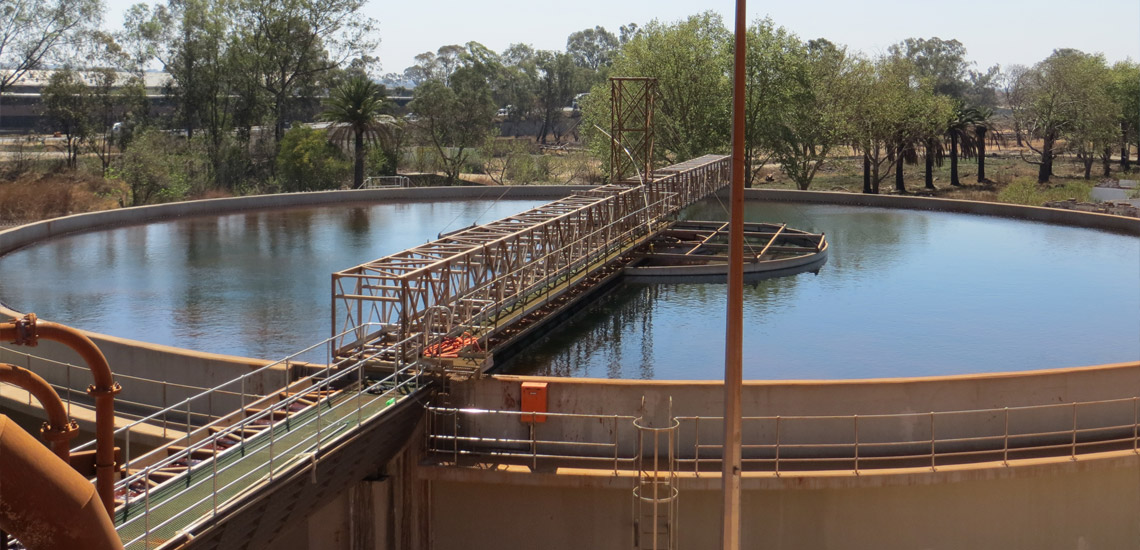 High rate thickener treating acid mine drainage water in South Africa